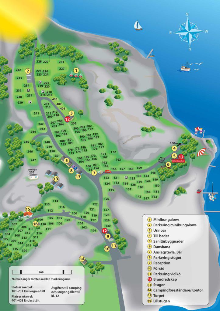 Fjällbacka-camping-områdeskarta