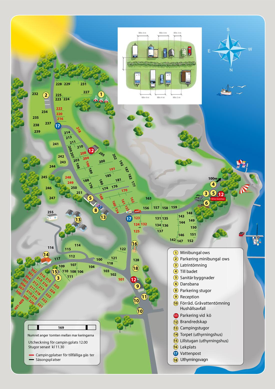 Fjällbacka Camping Map 2021